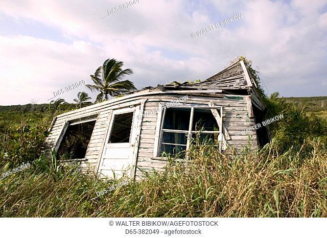 Bahamas, Abacos, Great Abaco Island, Crossing Rocks: Hurricane Damaged House