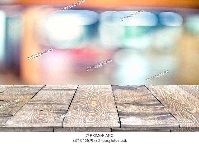 Wooden worktop surface with old natural pattern. Vintage wooden material surface