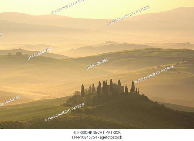 Italy, Europe, Tuscany, Toscana, hills, hill, scenery, landscape, nature, landscape, fields, cypresses, traditional, c