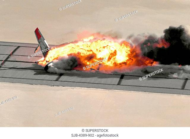 Fireball of Crashed Boeing 720