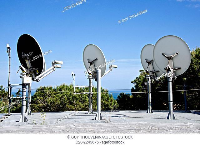Television aerials,multi media aerials, Sete, Herault 34, Languedoc-Roussillon region, France