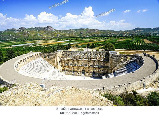 Aspendos amphitheater. Ancient Greece. Asia Minor. Turkey
