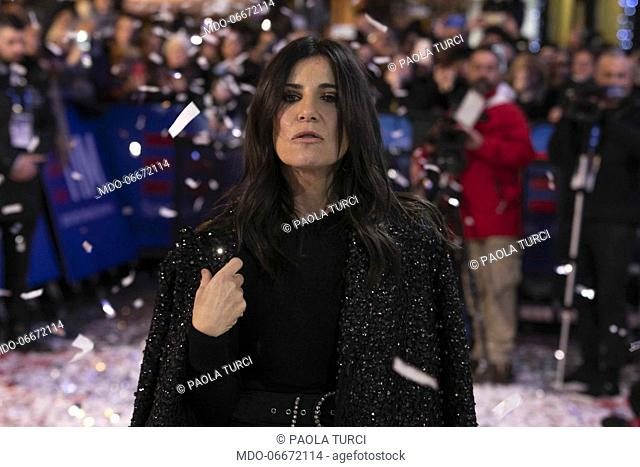 Paola Turci on the Red Carpet of the 69th Sanremo Music Festival. Sanremo (Italy), Fabruary 4th, 2019
