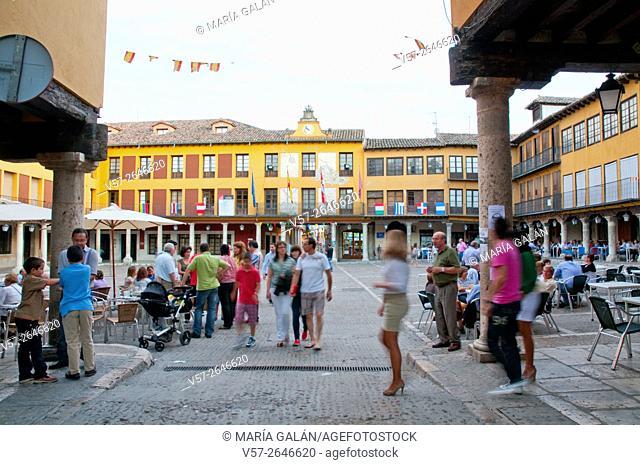 Main Square. Tordesillas, Valladolid province, Castilla León, Spain