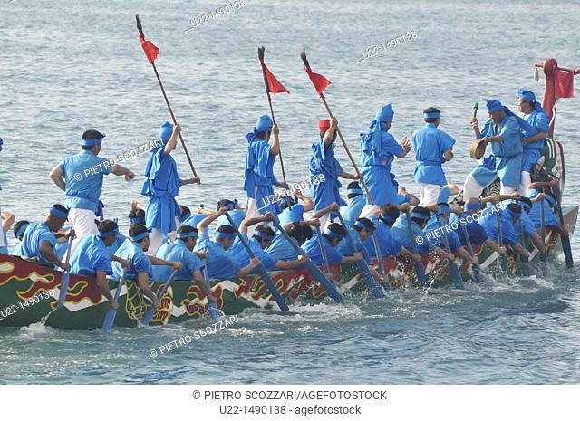 Naha (Japan): canoe at the Dragon Boat Festival