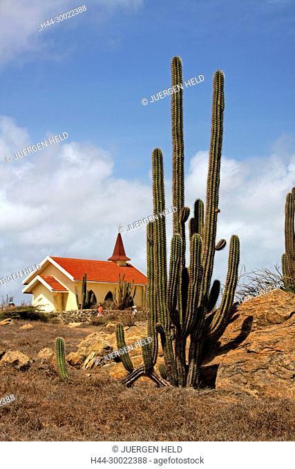West Indies, Bonaire, West Indies, Aruba , Jeep Adventure Safari Tour to Alto Vista Chapel