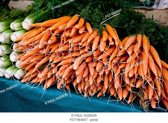 Carrots at an outdoor market