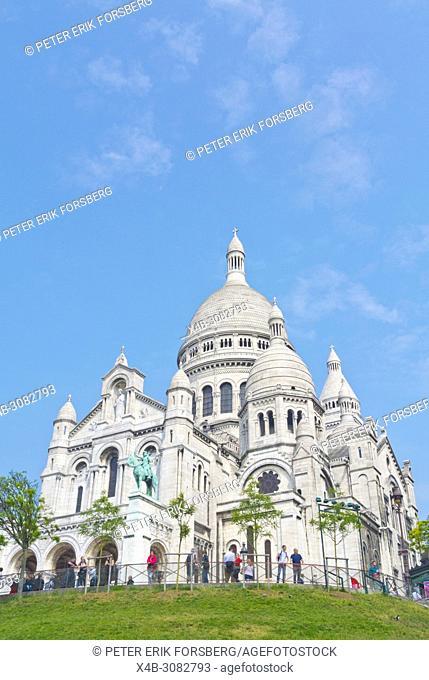 Basílica de Sacre Cœur, Montmartre, Paris, France