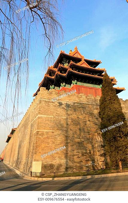 The Southwest turrets of the Forbidden City, on december 22, 201
