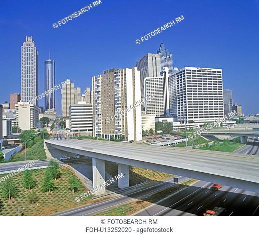 Skyline view of the state capital of Atlanta, Georgia