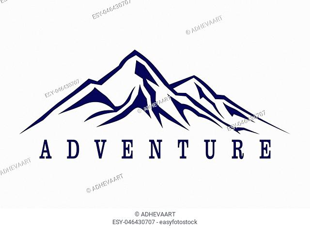 mountain adventure abstract logo