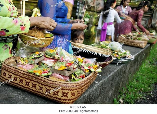 Offerings for the Kuningan Festival; Bali, Indonesia