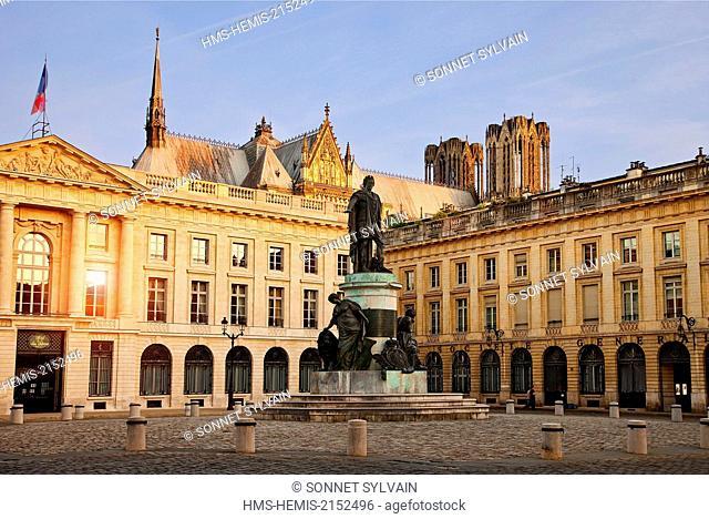 France, Marne, Reims, Place Royale (Royale Square)