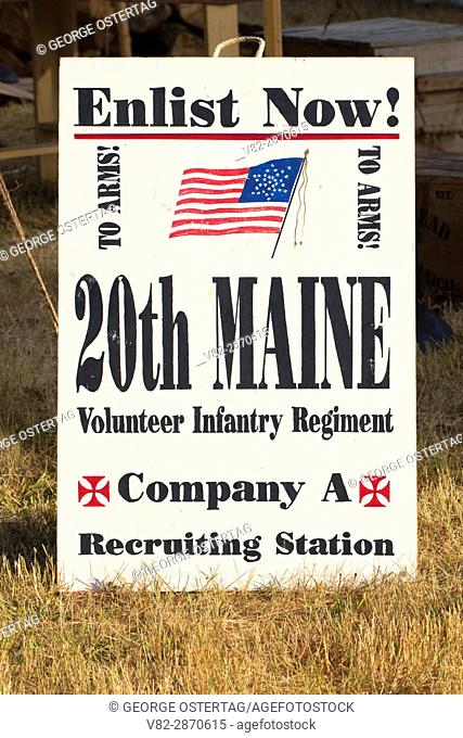 Recruitment board, Civil War Re-enactment, Willamette Mission State Park, Oregon