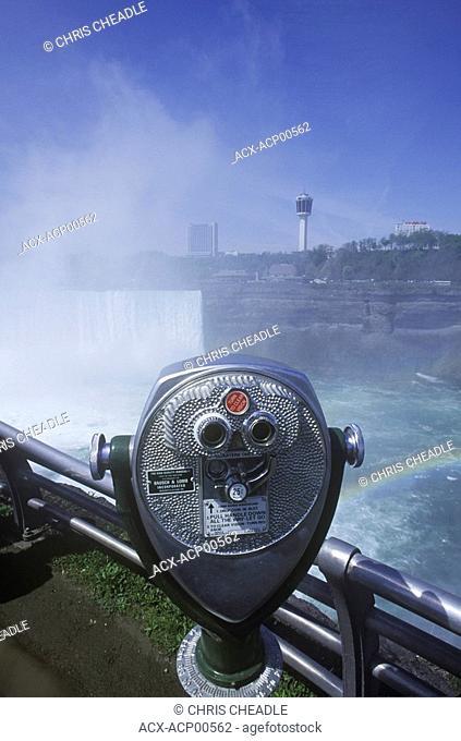 American Falls and viewscope, Niagara Falls, Ontario, Canada