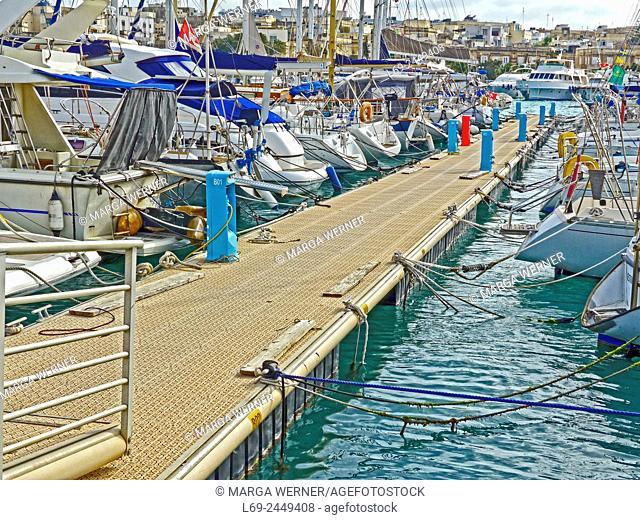 Msida Yacht Marina, Valetta, island Malta, Mediterranean Sea