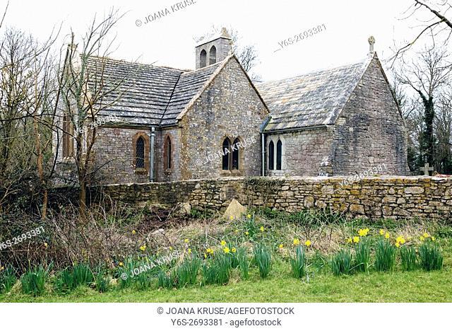 Tyneham, St Mary's Church, Purbeck, Dorset, England, UK