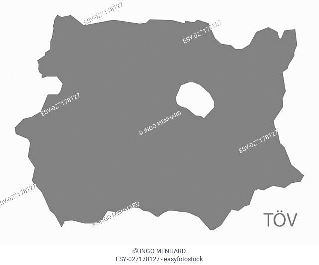 Tov Mongolia Map grey