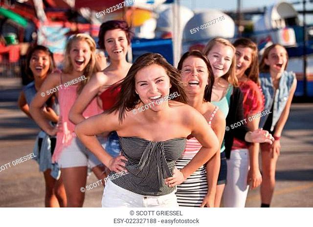 Eight Girls Laughing