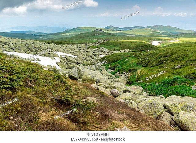 Amazing Panorama of Vitosha Mountain near Cherni Vrah Peak, Sofia City Region, Bulgaria