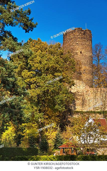 Castle Kohren, 1000-years old, is an monumental Ruin on Castle Hill in the city Kohren-Sahlis, administrative district Leipzig, Saxony, Germany, Europe
