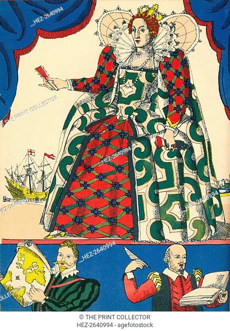Elizabeth I, Queen of England from 1558, (1932). Artist: Rosalind Thornycroft