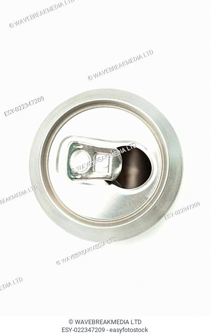 Empty can to be recycled on white background