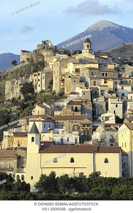 Scalea, district of Cosenza, Calabria, Italy, Europe, Tyrrhenian coast, view of the historic center village