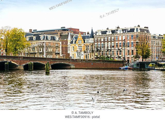 Netherlands, Holland, Amsterdam, Nieuwe Amstelbrug, moveable bridge