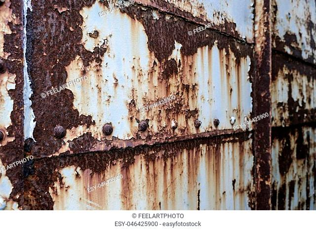 Rust on old metal wall texture background