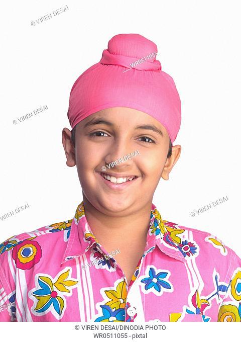 Portrait of Sikh boy MR702Y