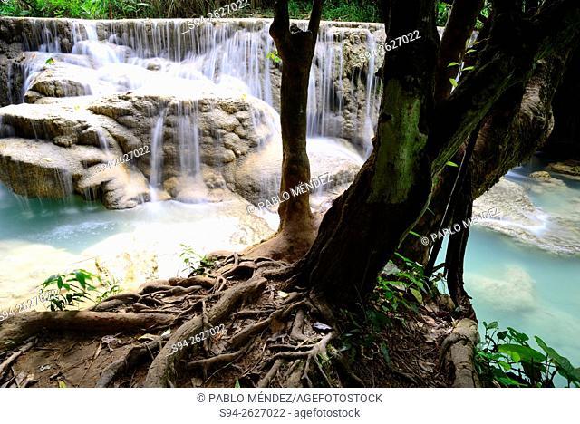 Kuang Si waterfall close to Luang Prabang, Laos