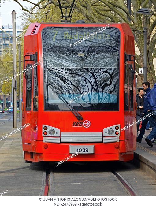 Tramway. Cologne, North Rhine-Westfalia. Germany, Europe