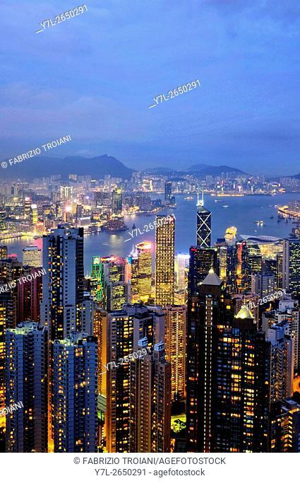 View of Hong Kong from the Peak, Hong Kong, China