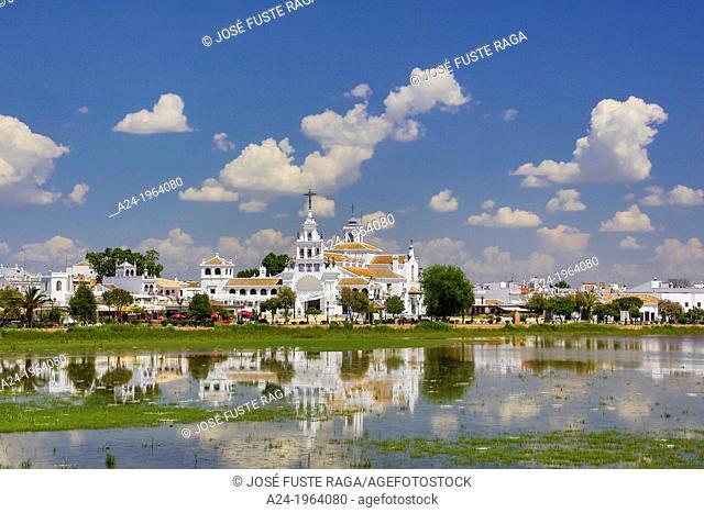 Spain, Andalucia Region, Huelva Province, El Rocio Hermitage near Coto de Doñana