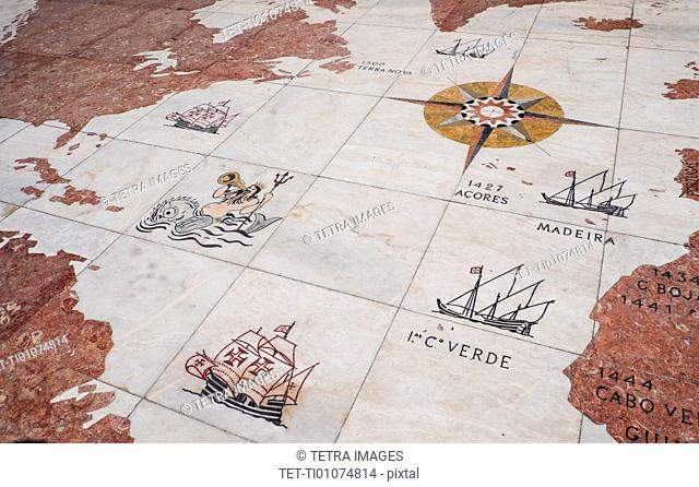 Map on Monument to Discoveries
