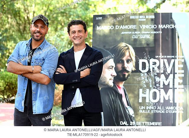Marco D'Amore, Vinicio Marchioni during the photocall of film ' Drive me home ' Rome, ITALY-17-09-2019