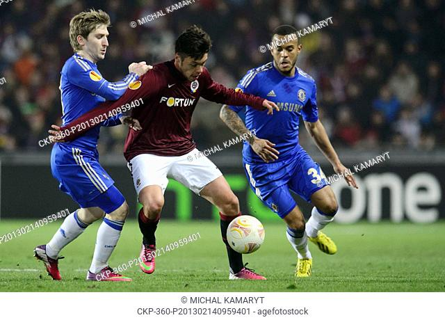 Europa League, 2nd round, Sparta Praha vs Chelsea FC in Prague, Czech Republic, February 14, 2013 From left: Marko Marin of Chelsea