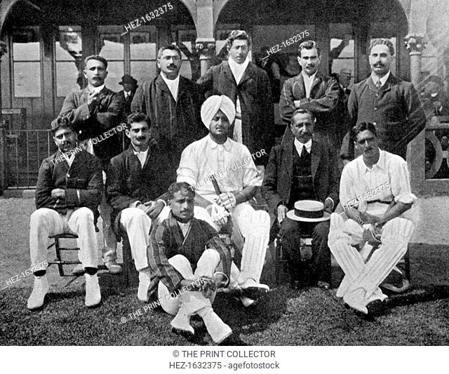 The all-India cricket team of 1911 (1912). From Imperial Cricket, edited by P F Warner and published by The London and Counties Press Association Ltd (London