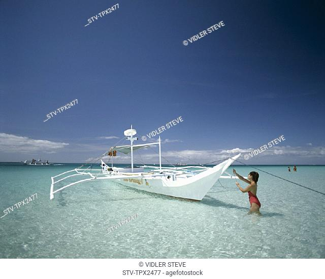 Beach, Boat, Boracay, Holiday, Island, Landmark, Philippines, Asia, Tourism, Travel, Vacation, Water