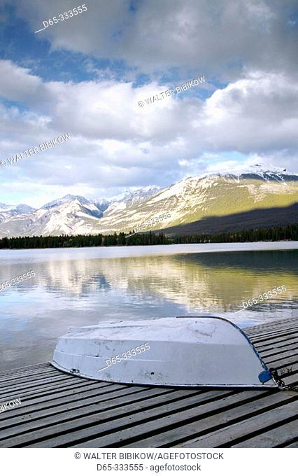 Lake Edith view, Jasper National Park. Jasper. Alberta, Canada