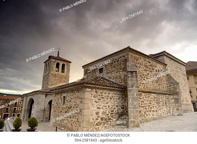 Church of San Pedro Apostol in Garganta de los Montes, Madrid, Spain