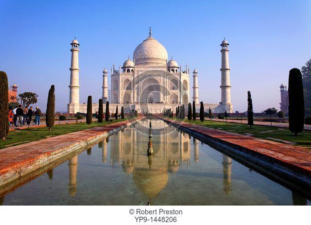 India - Uttar Pradesh - Agra - the Taj Mahal and reflection