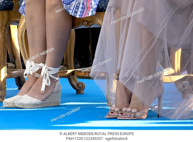 Princess Madeleine and Princess Sofia (shoes) of Sweden at the Borgholm Sports Arena in Borgholm, on July 14, 2019, .to attend the celebration of Crown Princess...