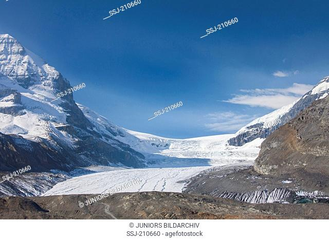 Athabasca Glacier, as seen from the valley, Jasper National Park, Alberta, Canada
