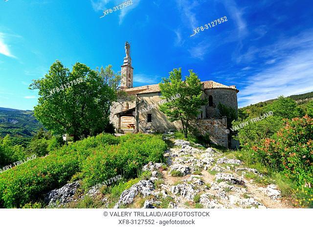 Eglise Notre Dame du Roc, Castellane, Parc regional du Verdon, Alpes de Haute Provence, 04, PACA,