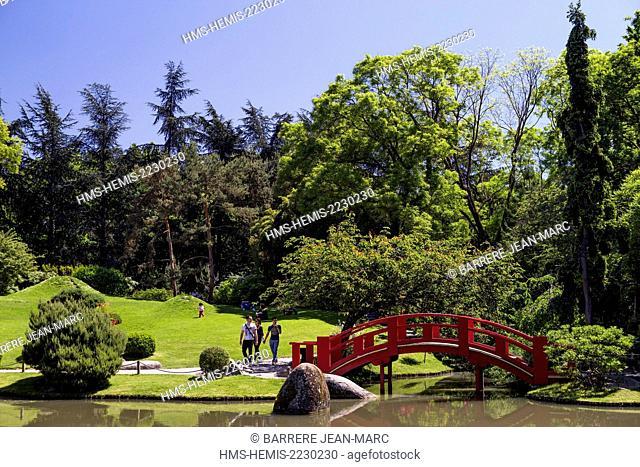 France, Haute Garonne, Toulouse, Compans Caffarelli district, japonese garden