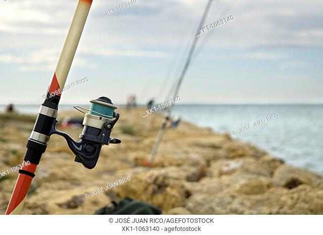 Fishing rods, Alicante province, Spain