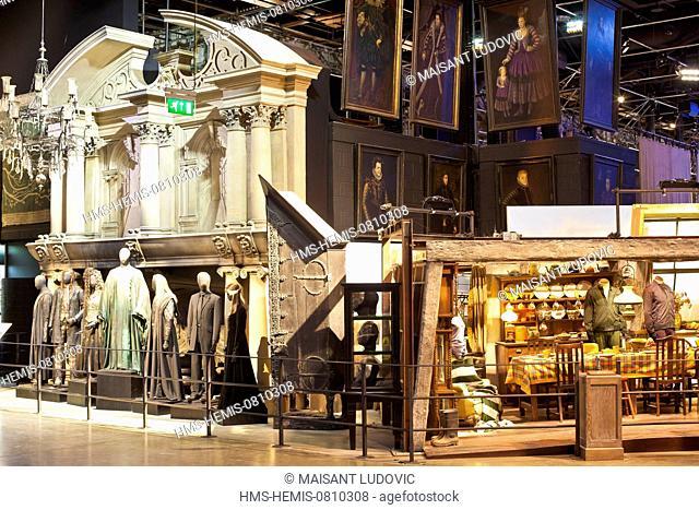 United Kingdom, London, Hertfordshire, Leavesden, Leavesden Film Studios, Harry Potter Studio Tour London, the scene of the eight Harry Potter movies' making of