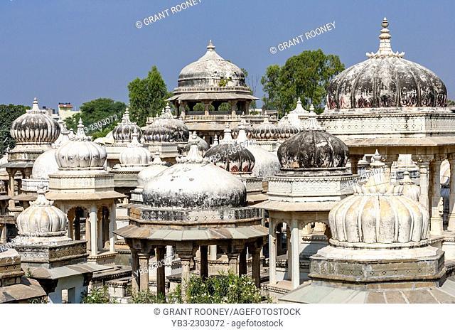 The Ahar Cenotaphs, Udaipur, Rajasthan, India